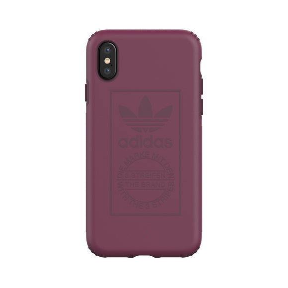 adidas(アディダス) Originals iPhoneX 背面型 ケース OR-TPU Hard Techink Maroon