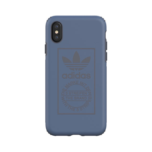 adidas(アディダス) Originals iPhoneX 背面型 ケース OR-TPU Hard Techink Utilityblue
