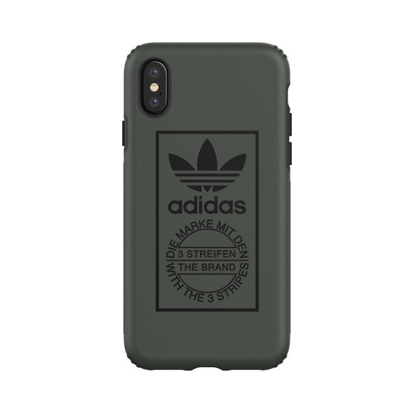 adidas(アディダス) Originals iPhoneX 背面型 ケース OR-TPU Hard Shadow Green