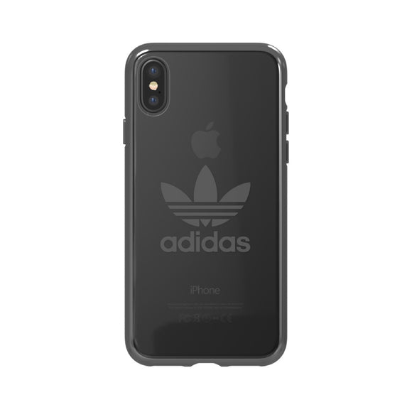 adidas(アディダス) Originals iPhoneX 背面型 ケース OR-clear Gunmetal logo