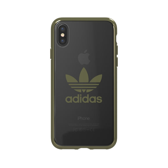 adidas(アディダス) Originals iPhoneX 背面型 ケース OR-clear Military Green logo