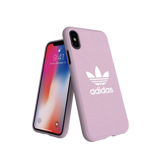 adidas(アディダス) Originals iPhoneXS/X 背面型 ケース Adicolor-Moulded Case Clear Pink