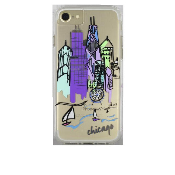 iPhone8/7/6s/6 兼用ハードケース Case-Mate CHICAGO CITY PRINTS