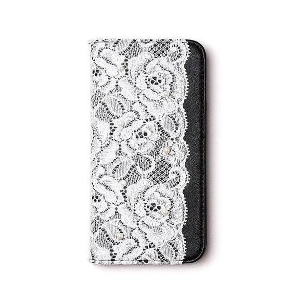 iPhone8/7/6s/6兼用 手帳型ケース Lace Diary
