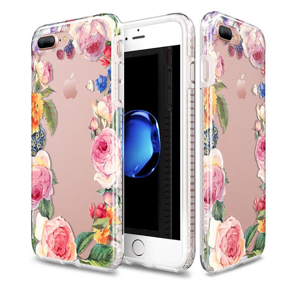 iPhone8Plus/7Plus 兼用ハードケース Level Case Botanic Garden Collection Rose