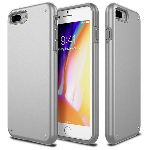 iPhone8Plus iPhone7Plus アイフォン 耐衝撃 Chroma Case Silver