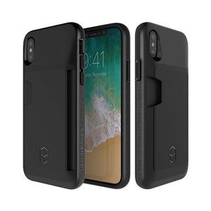 iPhoneX アイフォンX Level Wallet Case Black