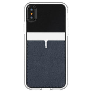 iPhoneX アイフォンX PU material Back Pocket Case 1pocketBlack
