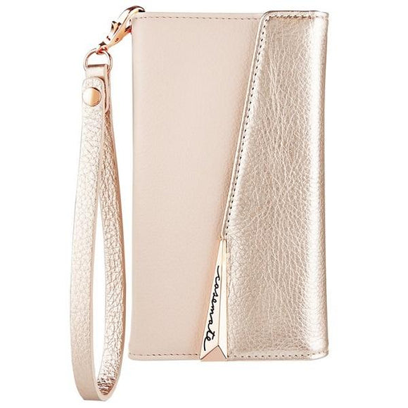 iPhoneXS/X ケース Case-Mate iPhoneXS/X Leather Wrsitlet Folio Rose Gold
