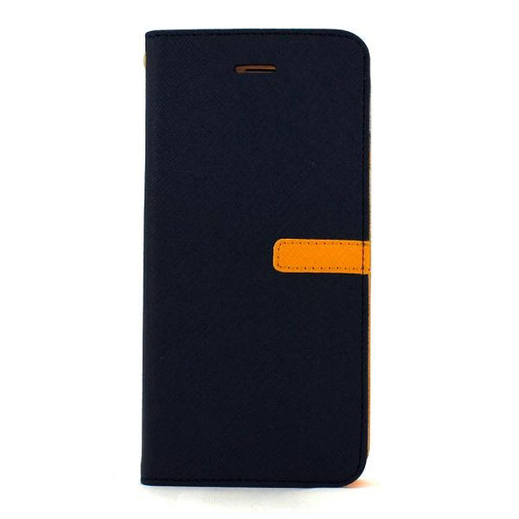 iPhone7 アイフォン 手帳型ケース Fantastick Diary Two tone Navy-Yellow for iPhone7