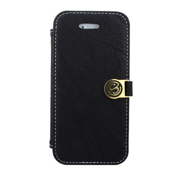 iPhone7 アイフォン 手帳型ケース Fantastick Diary Stitch Case Black for iPhone7