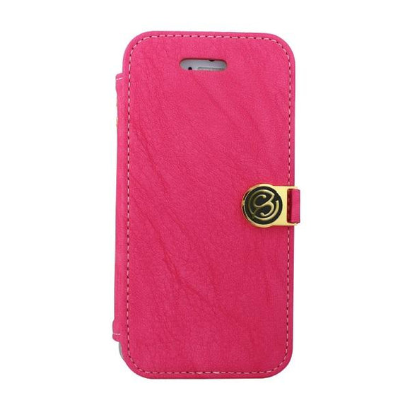 iPhone7 アイフォン 手帳型ケース Fantastick Diary Stitch Case Hot Pink for iPhone7