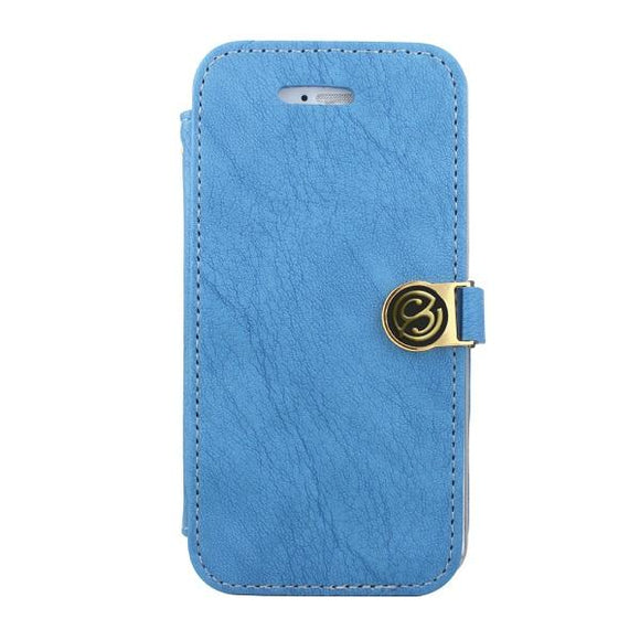 iPhone7 アイフォン 手帳型ケース Fantastick Diary Stitch Case Blue for iPhone7