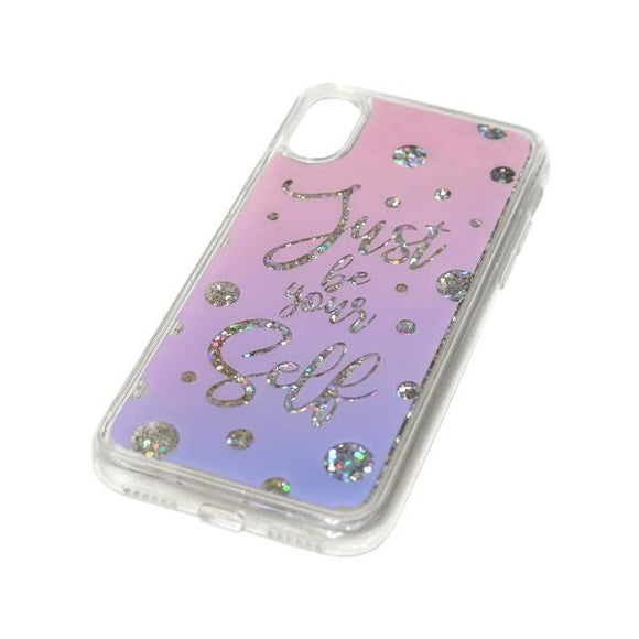 iPhoneXS/X ケース Sparkle case Calligraphy