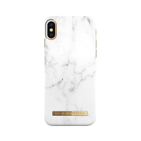iPhoneX おしゃれ FASHION CASE 16-17A/W WHITE MARBLE