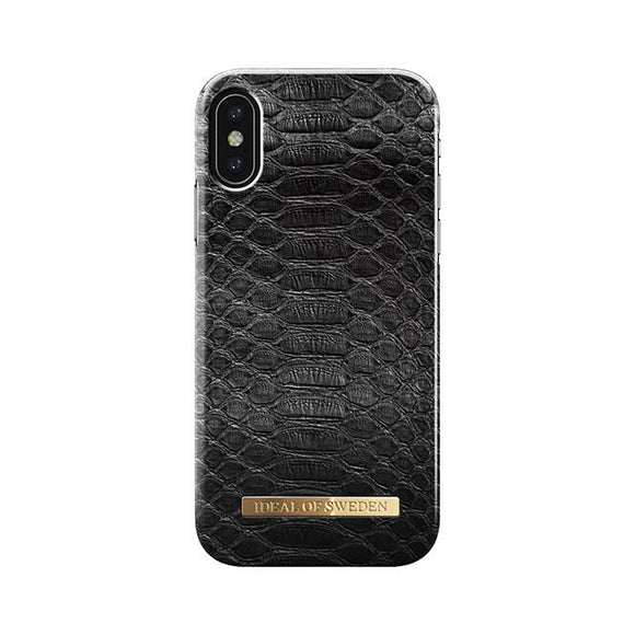 iPhoneX おしゃれ FASHION CASE 17S/S BLACK REPTILE