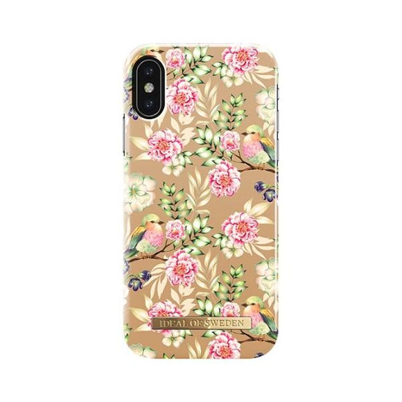iPhoneX おしゃれ FASHION CASE 17-18A/W CHAMPAGNE BIRDS