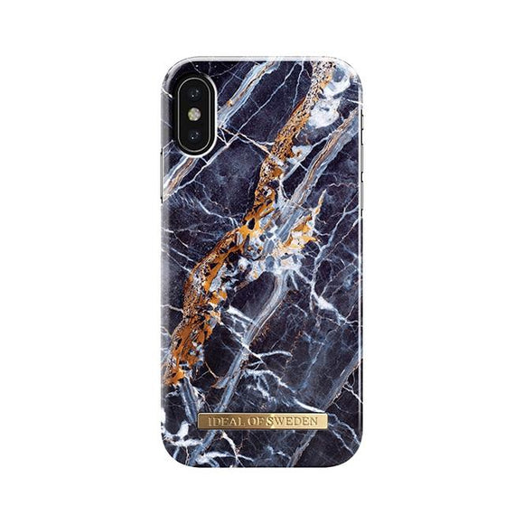 iPhoneX おしゃれ FASHION CASE 17-18A/W MIDNIGHT BLUE MARBLE