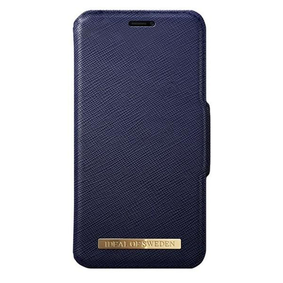 iPhoneX おしゃれ FASHION WALLET NAVY