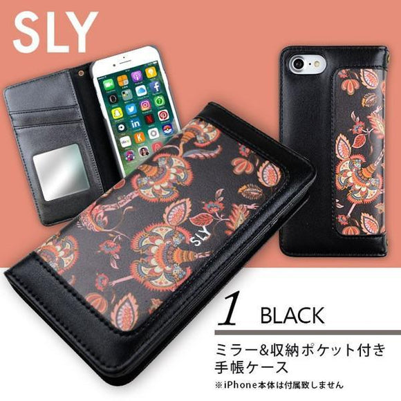 iPhone8/7兼用 手帳型ケース SLY ペイズリー