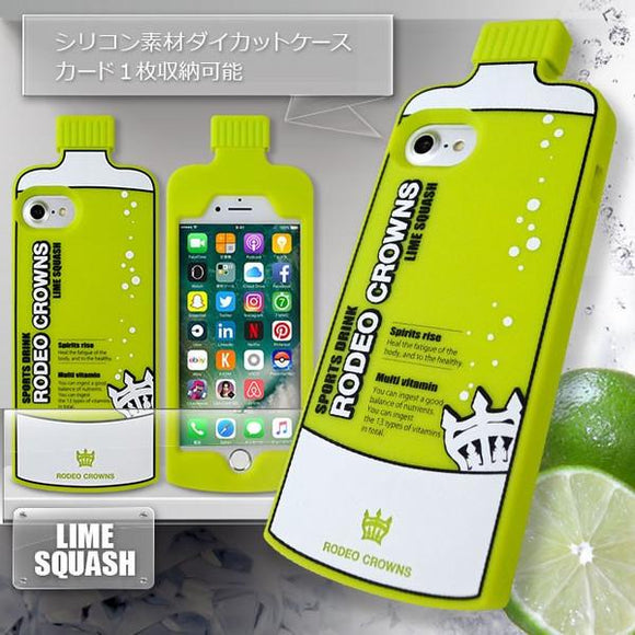iPhone8/7/6s/6兼用 ソフトケース RODEO CROWNS ダイカット/ LIME SQUASH
