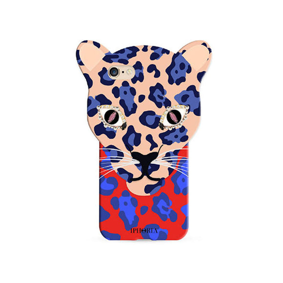 IPHORIA アイフォリア  iPhone8/7 ケース Leo Case Blue Leopard