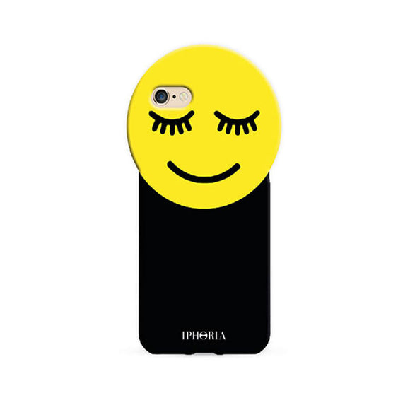 IPHORIA(アイフォリア) iPhone8/7 ケース Round Case Yellow Smiley