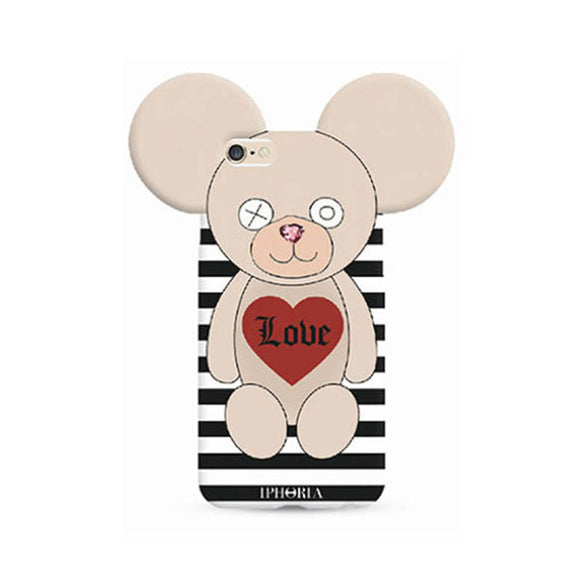 IPHORIA アイフォリア iPhone8/7 ケース  Teddy LOVE STRIPES
