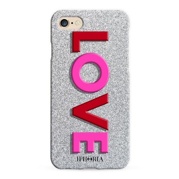 IPHORIA アイフォリア iPhone8/7 ケース 3D - LOVE PINK RED