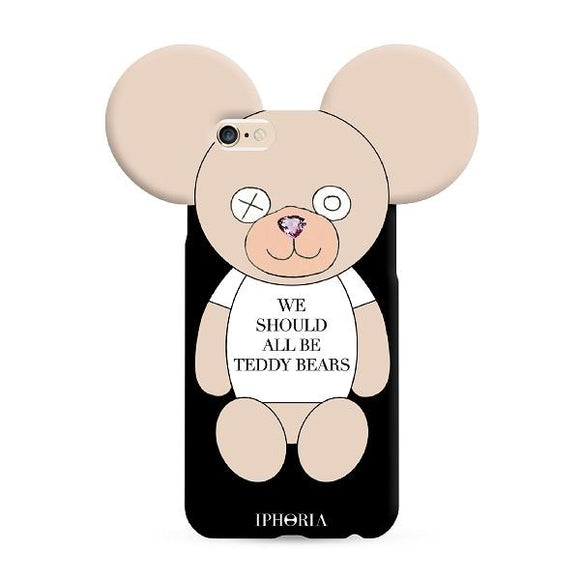IPHORIA(アイフォリア) iPhone8/7 ケース WE SHOULD ALL BE TEDDY BEARS(テディ ライン)