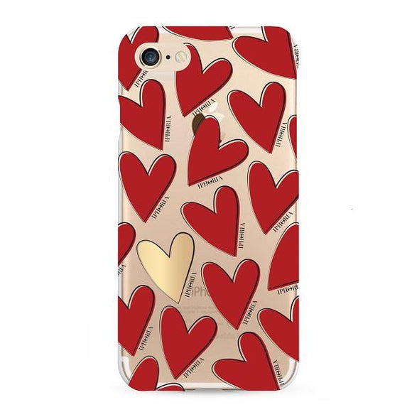 IPHORIA アイフォリア iPhone8/7 ケース HEARTS RED