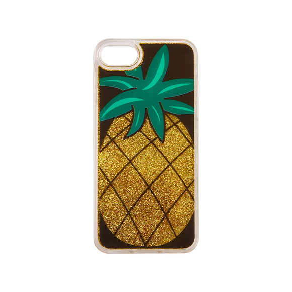 IPHORIA(アイフォリア)iPhone8/7 ケース Pineapple with Golden Glitter(リキッド コレクション)