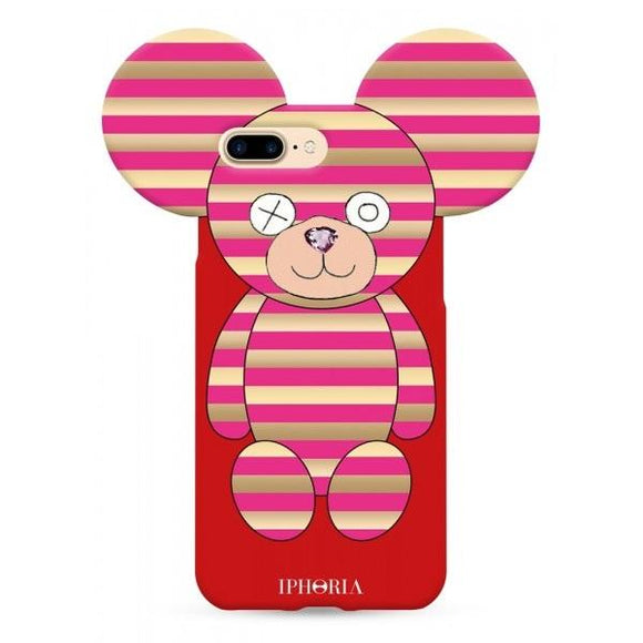 IPHORIA アイフォリア iPhone8Plus/7Plusケース PINK STRIPES