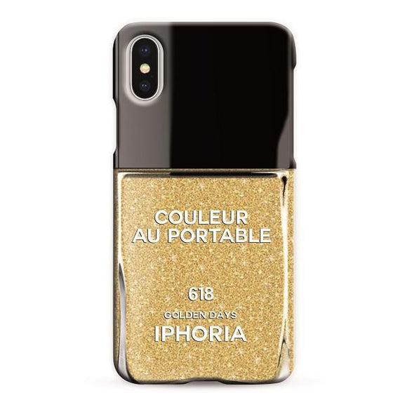 IPHORIA アイフォリア iPhoneX/XS ケース NAILPOLISH GOLDEN DAYS