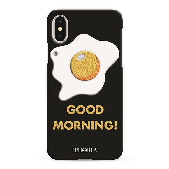 IPHORIA アイフォリア iPhoneX/XS ケース GOOD MORNING GLITTER