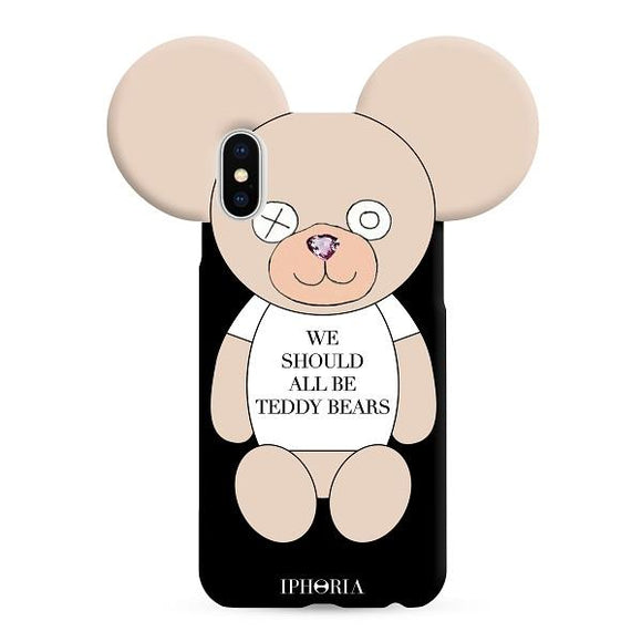 IPHORIA アイフォリア iPhoneX/XS ケース WE SHOULD ALL BE TEDDY BEARS