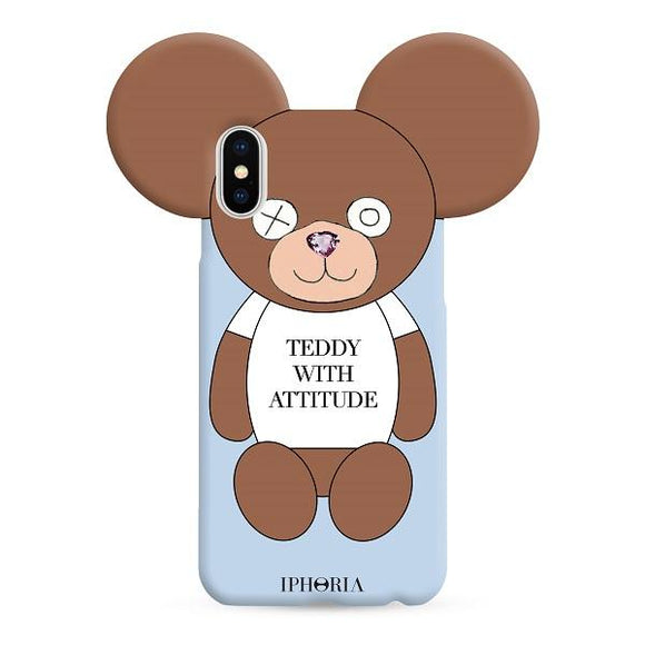 IPHORIA アイフォリア iPhoneX/XS ケース TEDDY WITH ATTITUDE