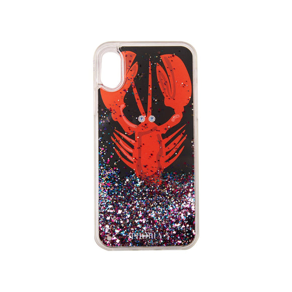IPHORIA(アイフォリア) iPhoneXS/X ケース Black with Red Lobster(リキッド コレクション)