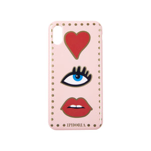 IPHORIA(アイフォリア) iPhoneXS/X ケース Nude Heart Eye Mouth