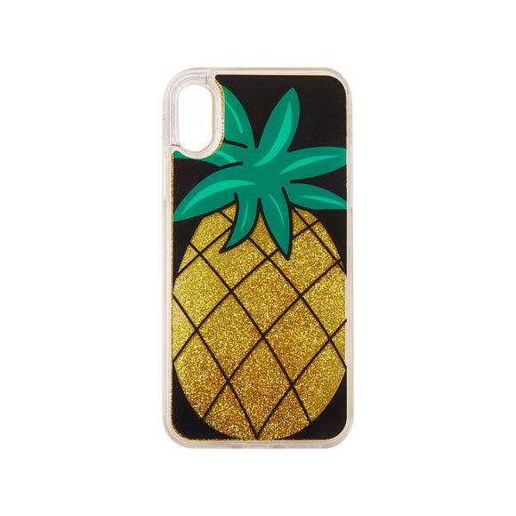 IPHORIA(アイフォリア) iPhoneXS/X ケース Pineapple with Golden Glitter(リキッド コレクション)