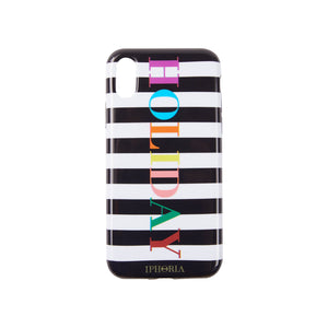 IPHORIA(アイフォリア) iPhoneXS/X ケース Stripes Black and White HOLIDAY
