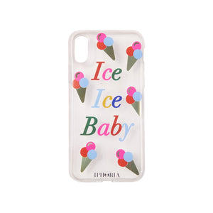 IPHORIA(アイフォリア) iPhoneXS/X ケース Transparent Ice Ice Baby