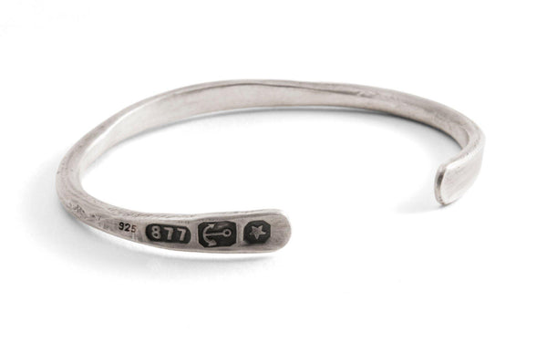 #14 - Men's bangle Sterling Silver Hallmarks