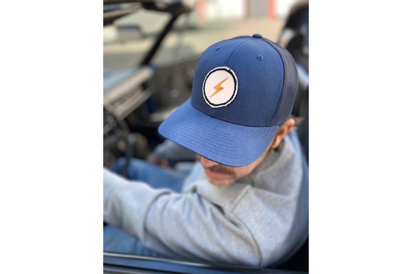 #200 - Basecap Trucker Cap Lightning bolt navy