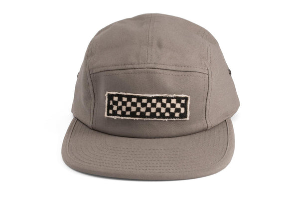 #182 - Basecap 5-Panel Checker grey