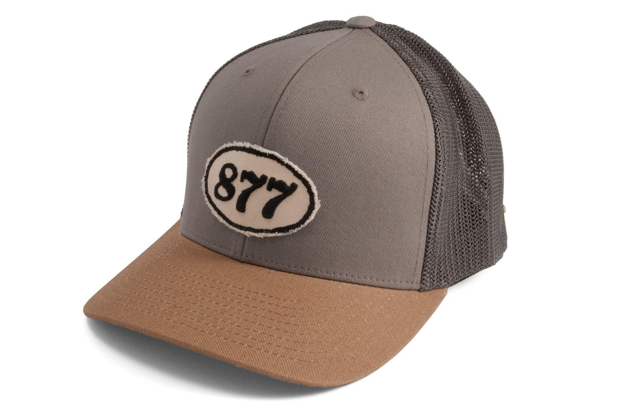 #198 - Basecap Trucker Cap Racing Number grey beige