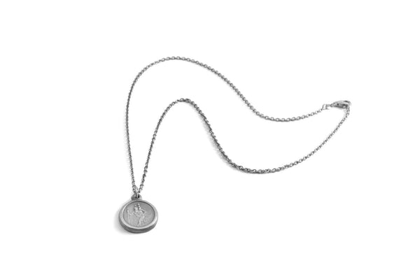 #054 - Necklace St. Christopher - round small