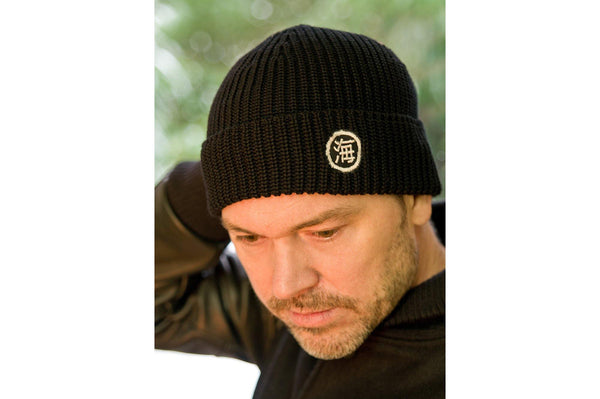#073 - Watch Cap Merino wool – black