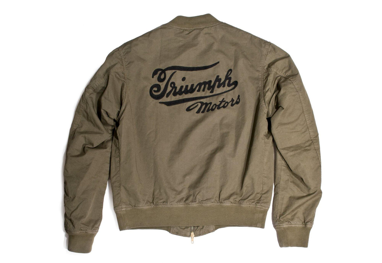 "#097 - Men's bomber jacket with embroidery ""Triumph Motors"" – one of one"