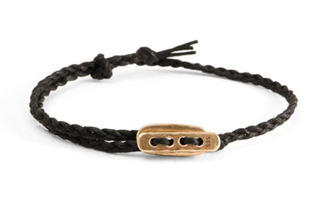 #135 - Men's bracelet Canvas Toggle black - GOLD - 877 Workshop